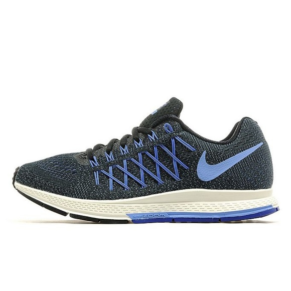 best website 895ab 1f053 Nike Air Zoom Pegasus 32 Black Blue Running Shoes.  M 5b8b3bef194dad889f2162aa